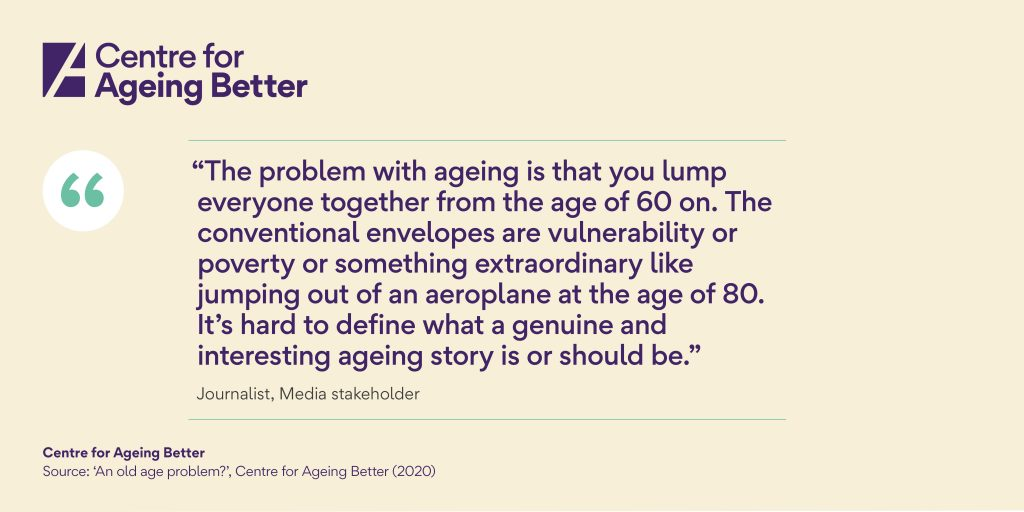 Journalist comment centre for ageing better